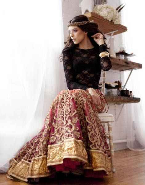Really digging this lengha look