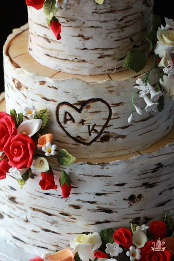 Birch Tree Wedding Cake | Sweetopia
