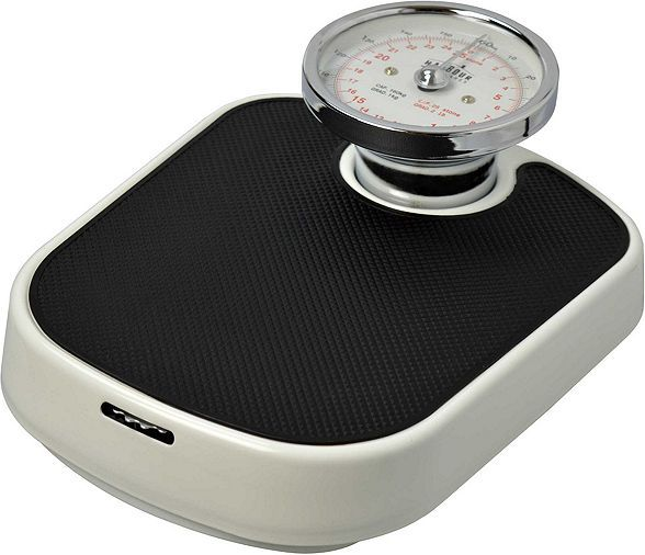 Tesco direct: Harbour Housewares Traditional White Bathroom Scales - 25st (160kg)