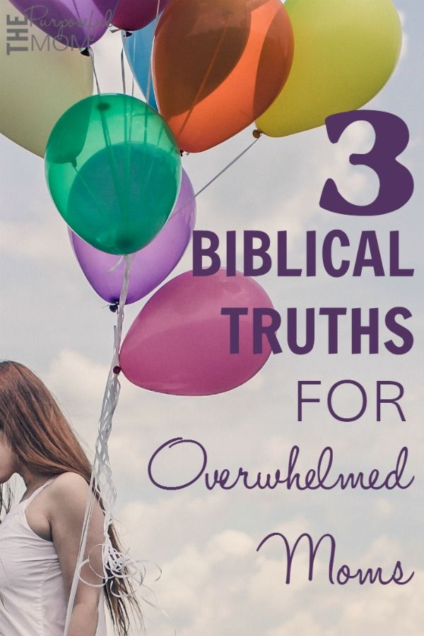 As a mom, wife and homemaker, it's easy be overwhelmed and feel like I can't do it all. Dishes need to be done. Laundry is waiting in the dryer to be put away. A child needs to be disciplined. The baby is crying. Thankfully we can hold onto these three Biblical truths when we feel overwhelmed!