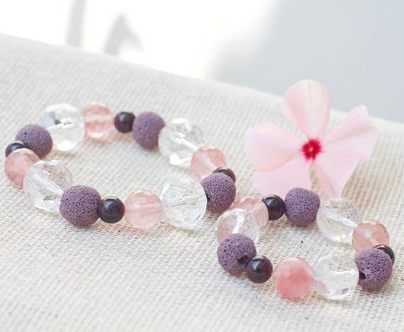 Mother daughter bracelets Mother daughter jewelry Crystal bracelets Diffuser bracelets