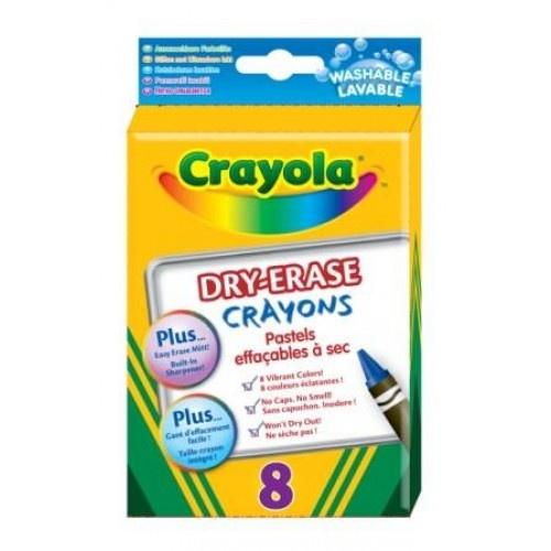 8 pastels effaçables à sec , Maxi Toys pour travailler sur pochette plastifiées ou fiches plastiques...