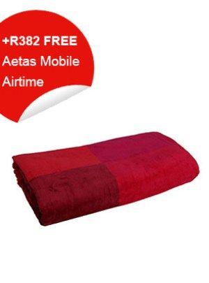 Bath Towel (pink & maroon)