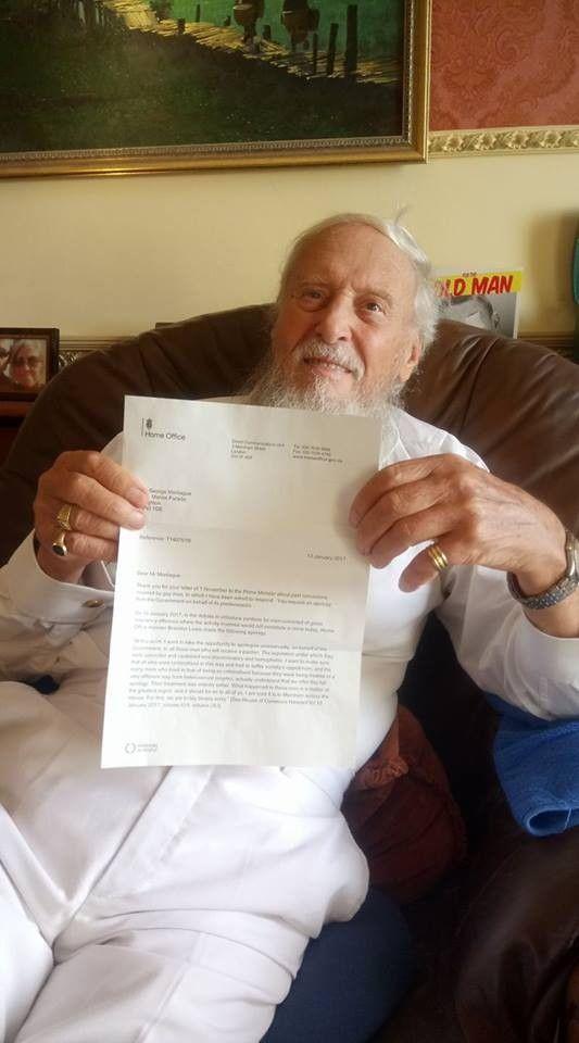 George Montague, activista y autor de la autobiografía «El gay más viejo del pueblo», consigue la disculpa oficial del gobierno británico que pedía tras la constitución de la Ley Turing que le otorgaba el perdón por ser condenado por ser gay.