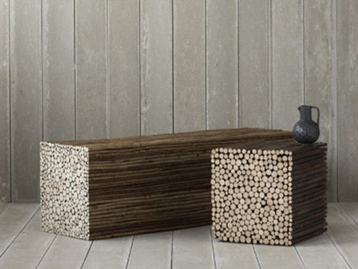 Bench made from copiced hazel TWIG by PINCH | Design ...
