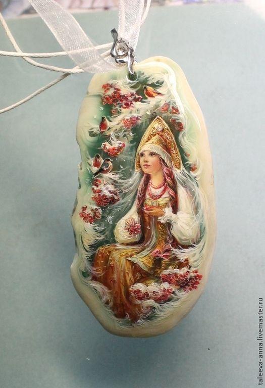 """Купить Кулон """"Угощение"""" - морская волна, камень натуральный, кулон, подарок, девушка, красавица, зима"""
