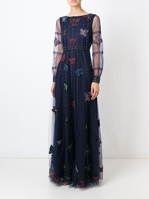 Valentino Abendkleid Mit Schmetterlingen - Stefania Mode - Farfetch.com