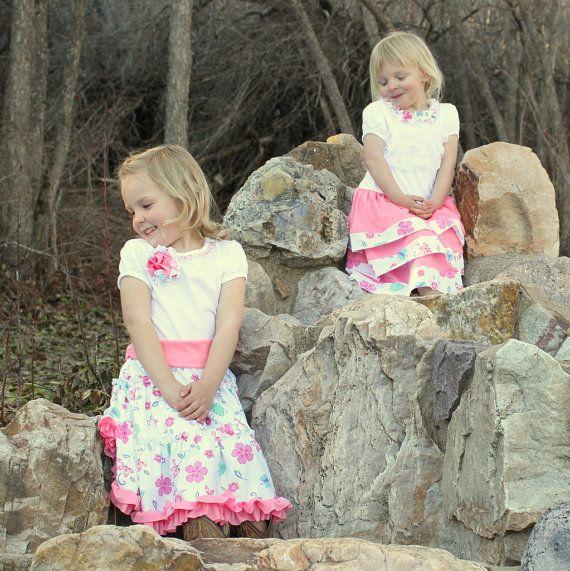 3 Easter Dresses  Girls Easter Dresses  by thebluekeystone on Etsy