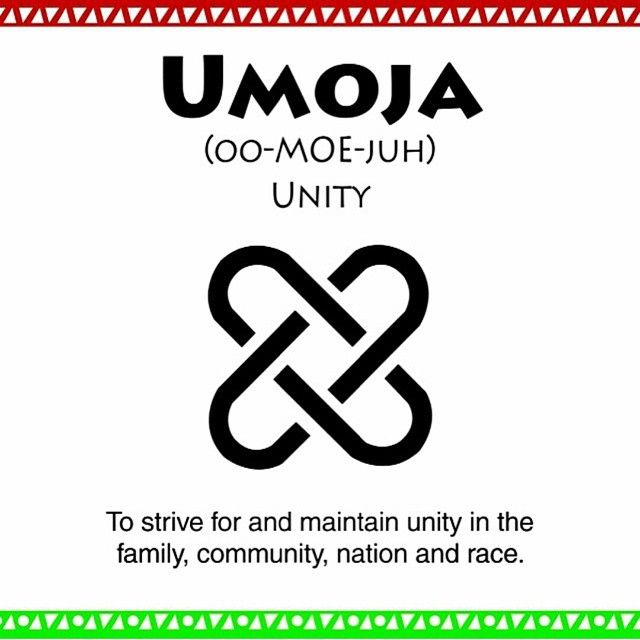 The first principle is #Umoja which means #unity in Swahili.