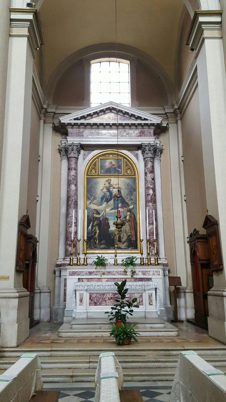L'incoronazione di Maria con i Santi Francesco Nicola e Michele Arcangelo Moretto 1534