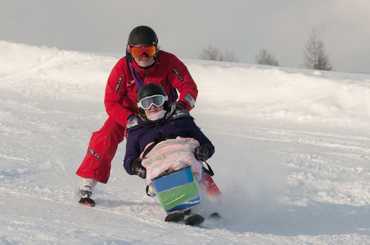 Sit skiing in Myoko. The sit ski is loaned from Disabled Wintersport Australia for the winter season. A lot of fun!
