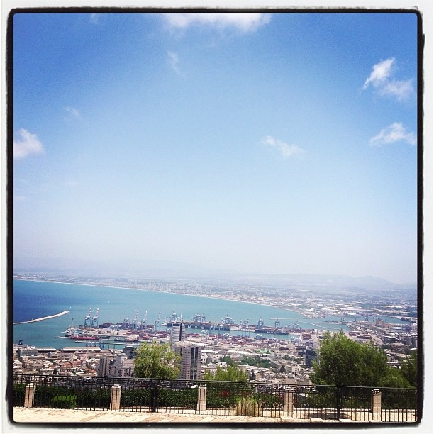 View from the top - #Haifa #Israel