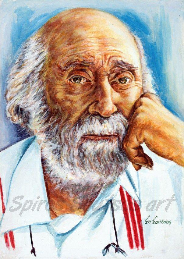 Γιάννης Τσαρούχης πορτραίτο, αφίσα, αυθεντικός πίνακας ζωγραφικής, πόστερ