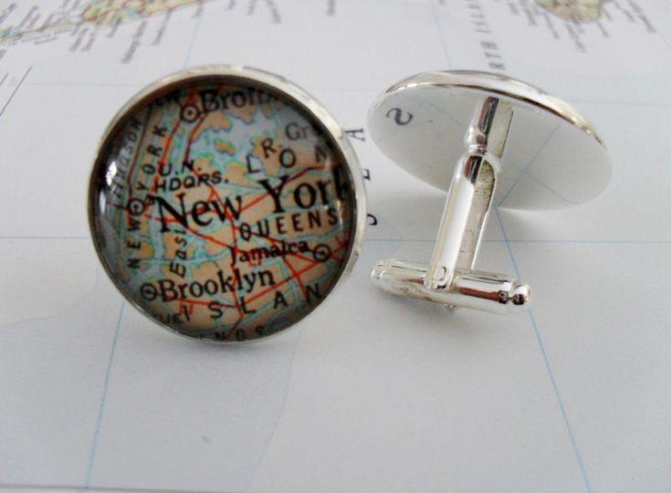 Custom Map Cufflinks