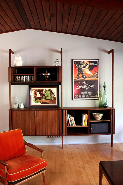 Barzilay Multispan Vertical Storage System — another valuable Scandinavian Modern wall unit design
