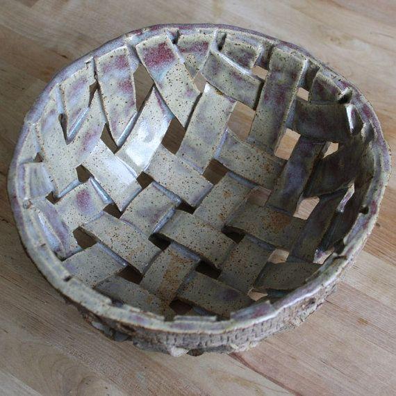 Handmade Pottery Bowl Handwoven Stoneware by CherieGiampietro