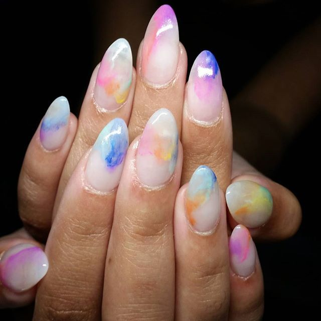 Nail Ideas For April: 25+ Best Ideas About Water Color Nails On Pinterest
