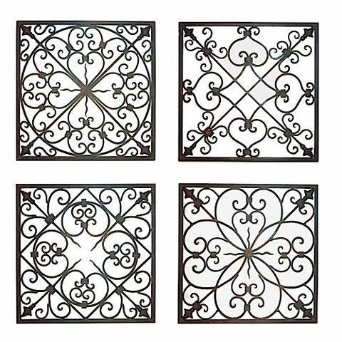 Design Ideas for Wrought Iron Project. @nikki striefler Brehm for in between the candles on your wall?