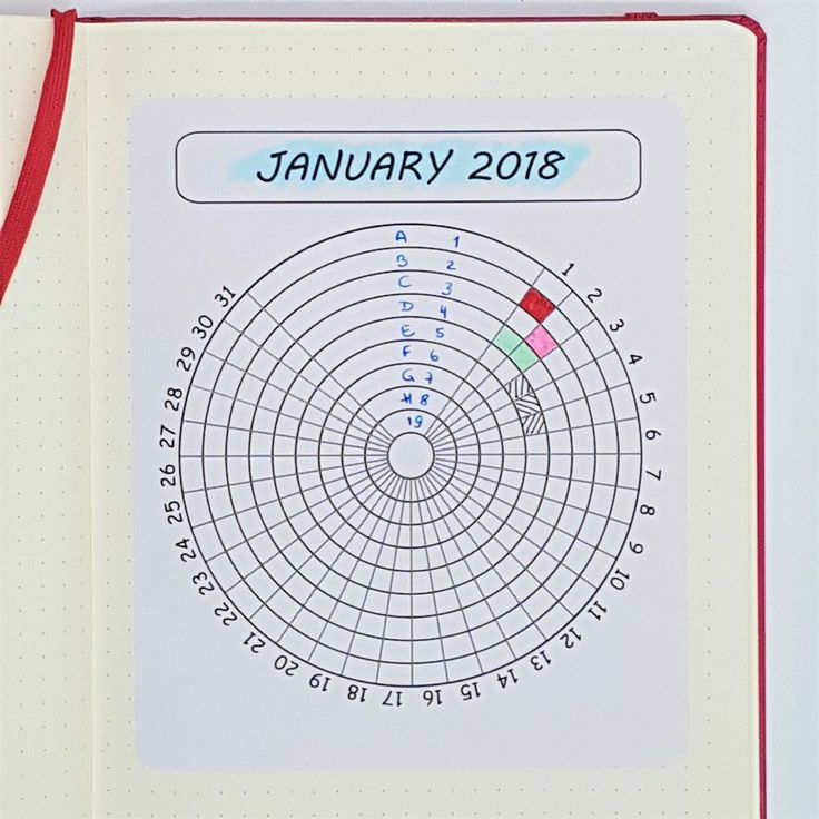 bullet journal monthly tracker - on sticker paper - 9 tracking options on one page - set of 12 months - wheel habit tracker - A5 size by StickersSwissMade on Etsy #stickersswissmade #plannerstickers #wheelhabittracker #bulletjournalstickers