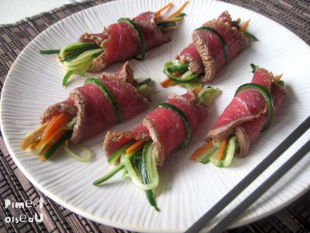 Tataki de boeuf aux légumes croquants - Piment oiseau