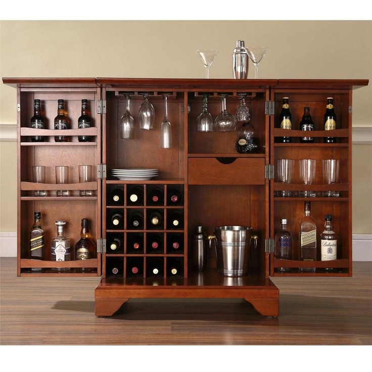 New Cherry Wood Liquor Cabinet
