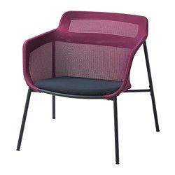 IKEA - IKEA PS 2017, Armchair, pink/blue, , The soft mesh fabric supports your body and makes the chair comfortable to sit in.The armchair is lightweight and easy to move if you want to clean the floor or rearrange the furniture.