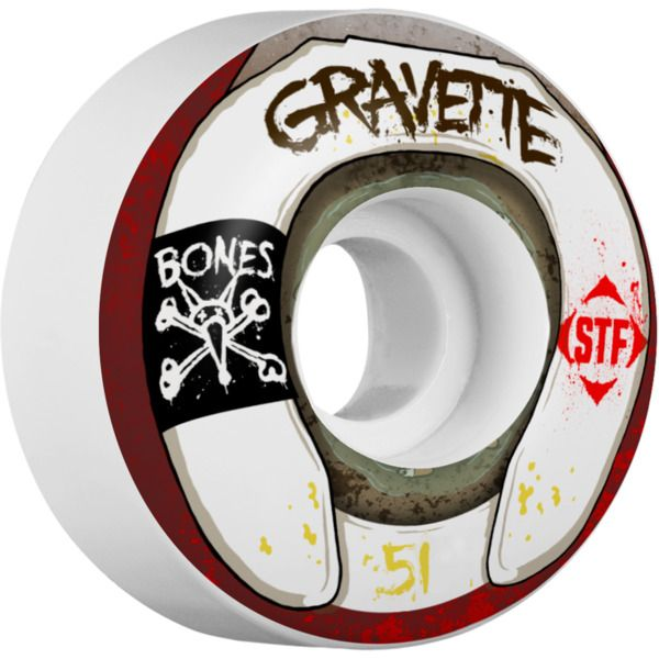 Bones Wheels David Gravette Street Tech Formula Wasted Life White Skateboard Wheels - new at Warehouse Skateboards! #whskate #newarrivals #skateboarding