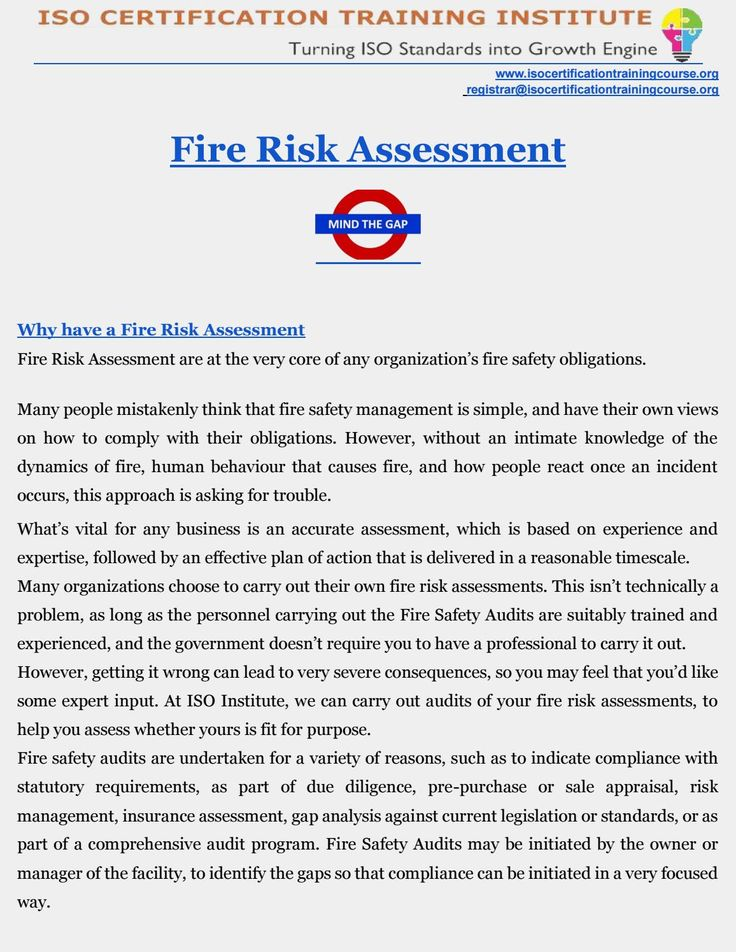 Fire Risk Assessment | Fire Prevention | Fire Safety | Fire Safety Audit