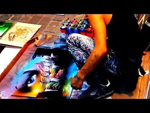 Уличный художник! Картина за 4 мин. - YouTube