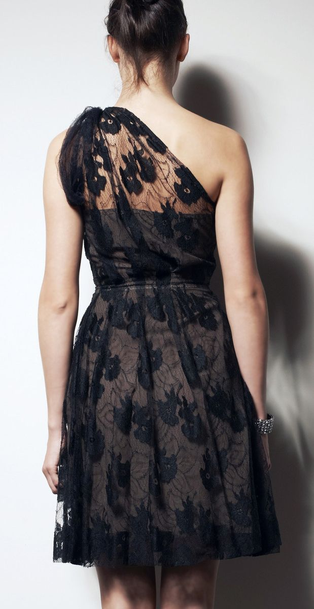 LANVIN Black And Brown Lace Dress