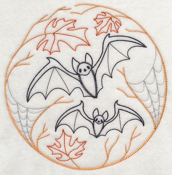 boo tiful bats halloween embroideryhand embroideryembroidery patternsmachine - Halloween Hand Embroidery Patterns