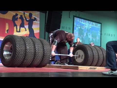 Arnold Strongman Classic 2012: Brian Shaw 1073 pound dead lift With Torn Bicep #skill