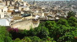 A view of the ancient medina of Fes.