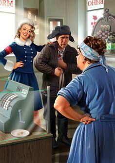 Советский пин-ап от художника Натальи Ершовой 5