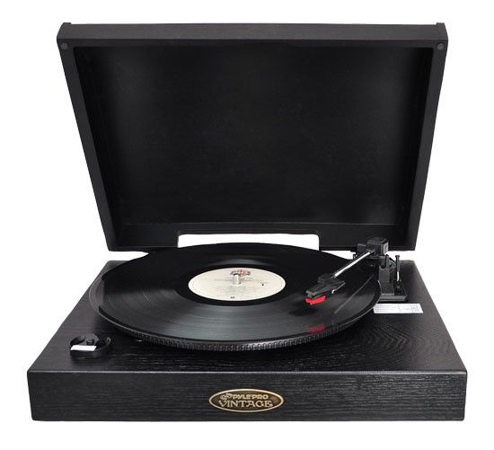 Classic Retro USB-To-PC Phonograph/Turntable Record Player PVNTT1B (Black)