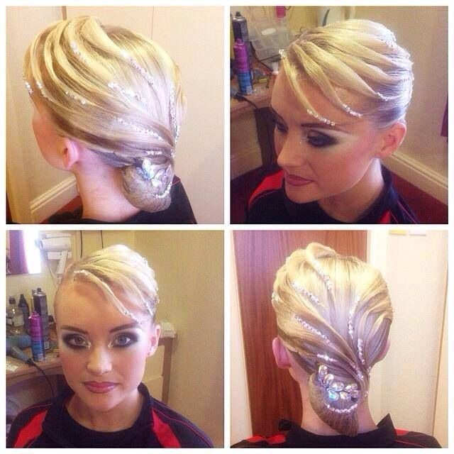 Beautiful Ballroom Hair for short hair/bangs