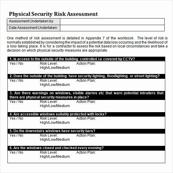 Security Risk Assessment Template In 2020 Mission Statement