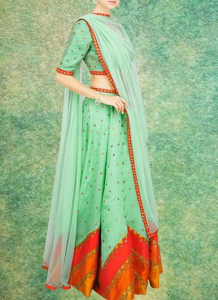 Lehenga Bollywood Choli Traditional Bridal Indian Ethnic wear Pakistani Wedding #TanishiFashion