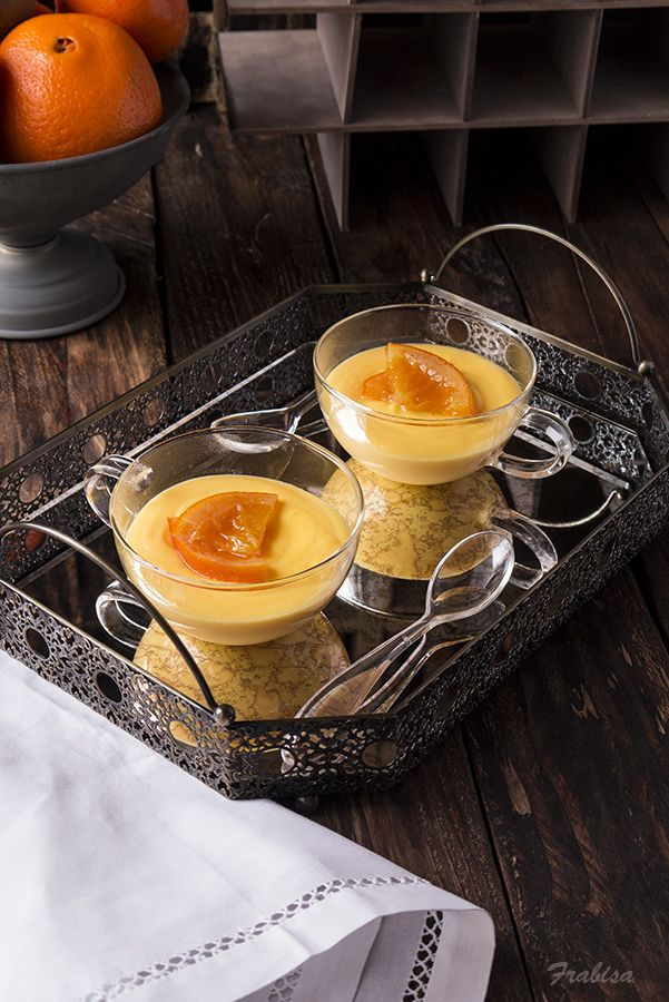 La cocina de Frabisa: Natillas caseras de naranja. RECETA, en Thermomix y Manual.