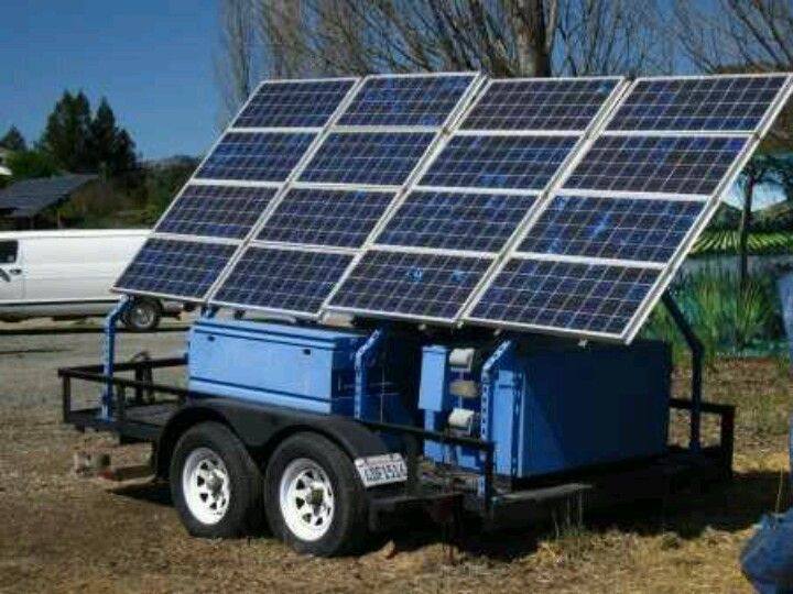 Portable solar on a trailer.