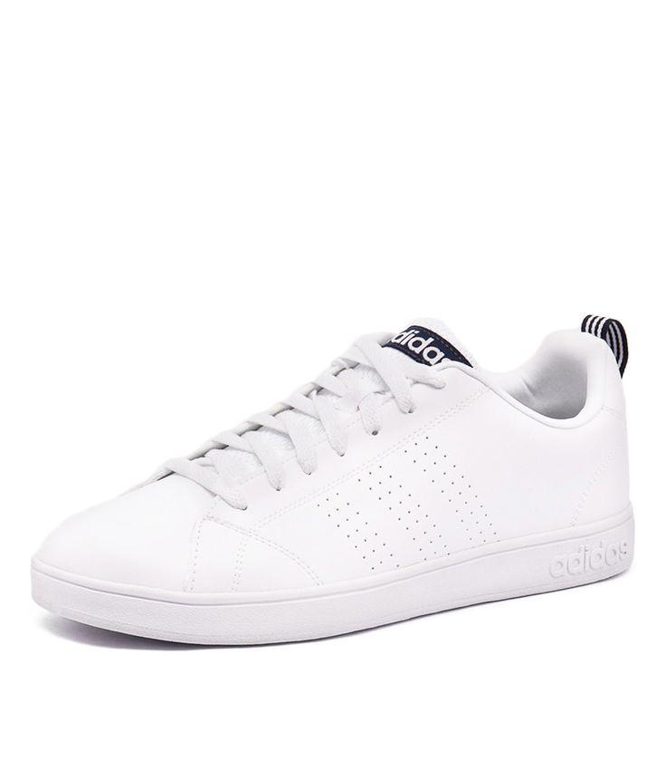 Adidas Neo Men's Advantage Clean VS White/Navy at styletread.com.au