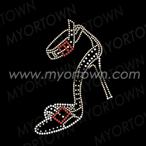 Shoes Rhinestone Motif For Tshirts Iron On Transfer Wholesale 30 pcs/lot
