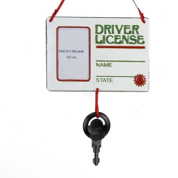 """Driver License"" With Key Ornament"