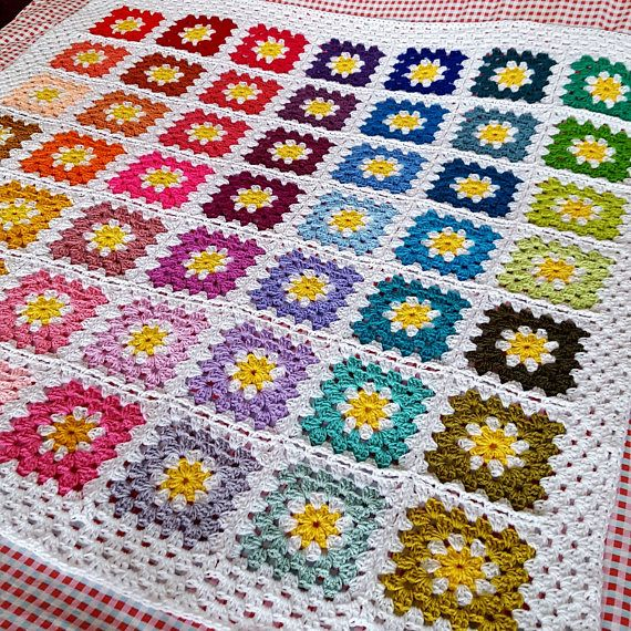 Vintage 70s Yellow Daisy Flower Afghan Throw Blanket Flower: 7791 Best Crochet Inspirations Images On Pinterest