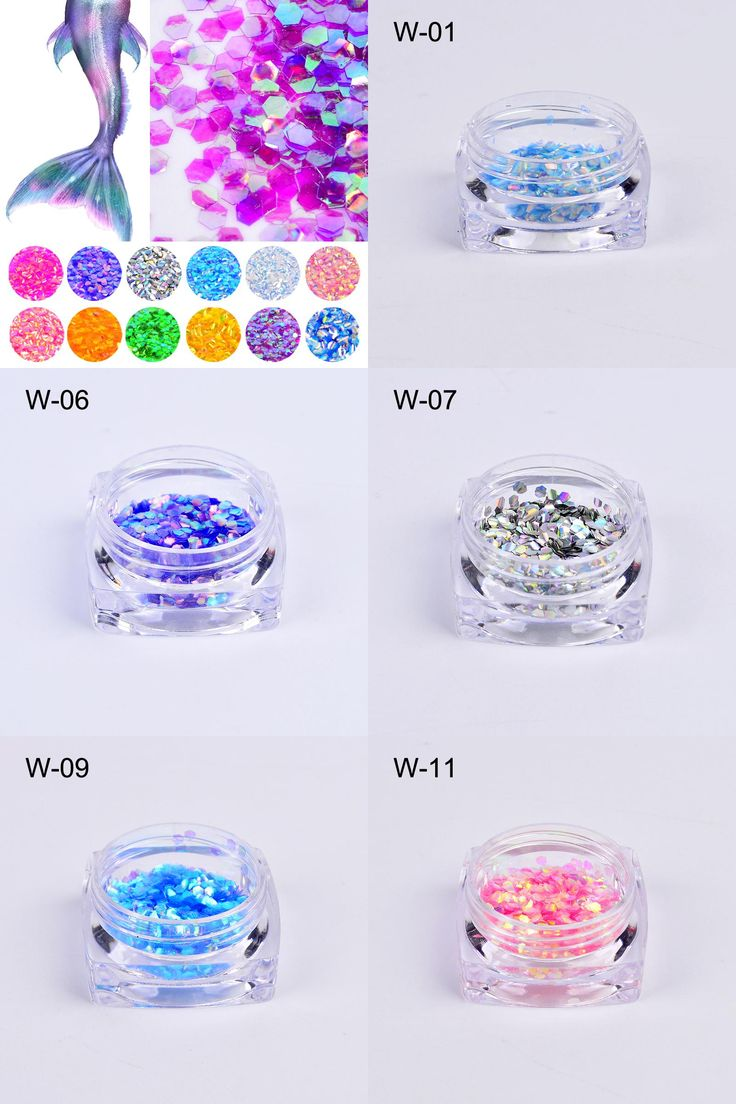 [Visit to Buy] 1 Bottle 2g Fish Scale Nail Sequins Mermaid Hexagon Glitter Sheets For DIY Manicure Nail Art Tips Decorations #Advertisement