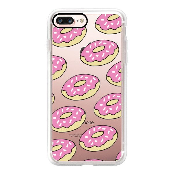 Donuts for Days - Transparent by Nicole Daddona - iPhone 7 Case,... (€37) ❤ liked on Polyvore featuring accessories, tech accessories, iphone case, iphone cover case, iphone cases, apple iphone case, transparent iphone case and slim iphone case