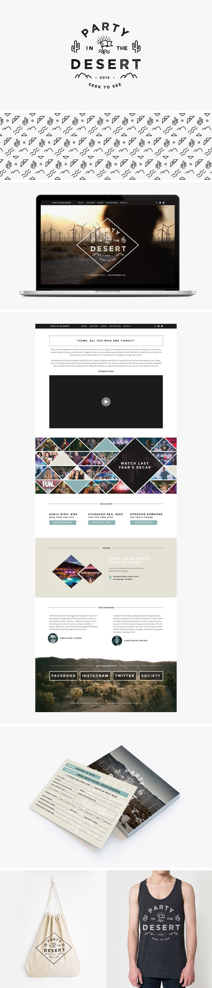 Party in the Desert | branding & web design | by C…