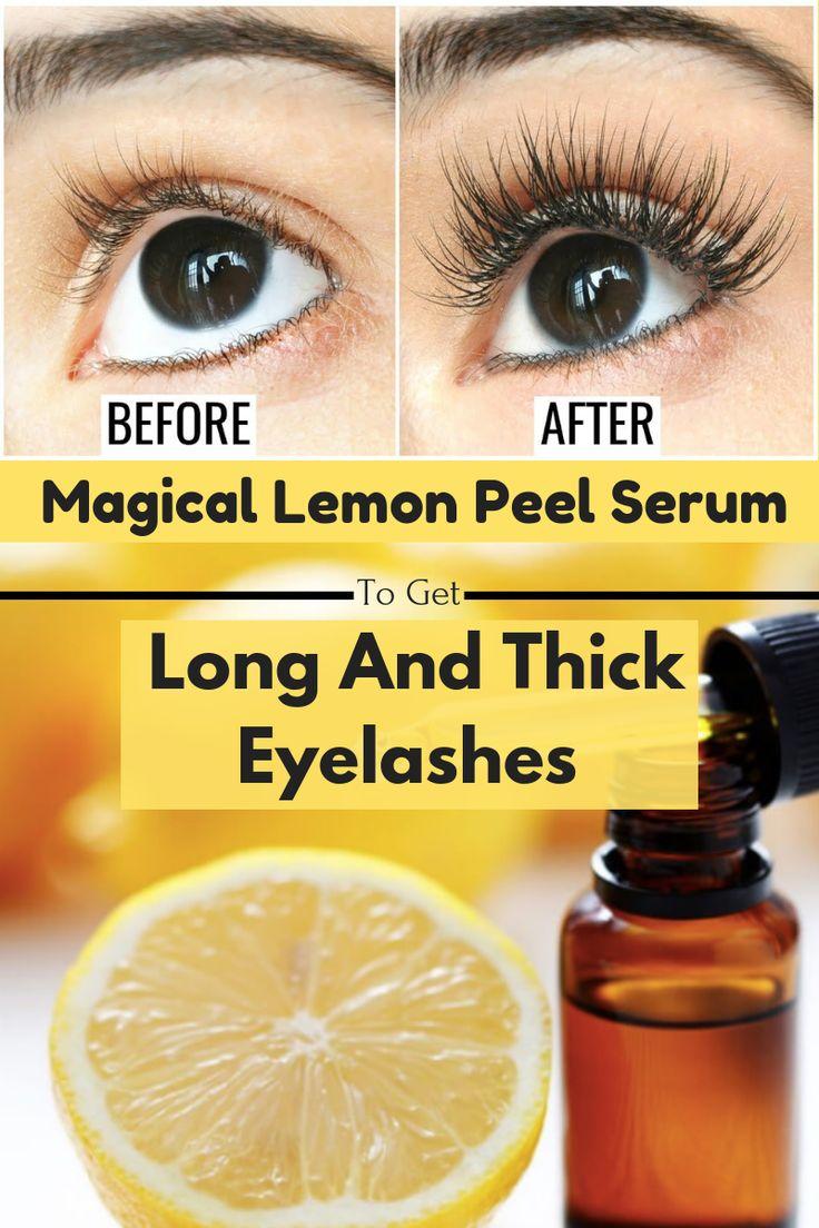 Lemon peel eyelash serum to get thick dense beautiful