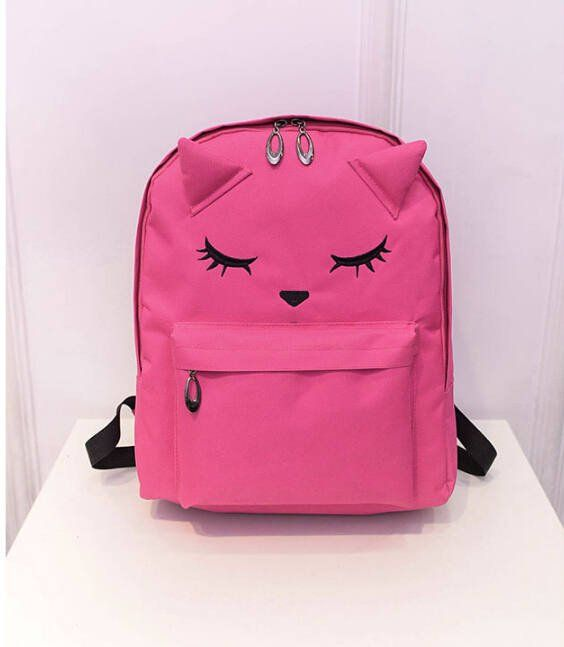 Cute Cat Backpack Casual Style