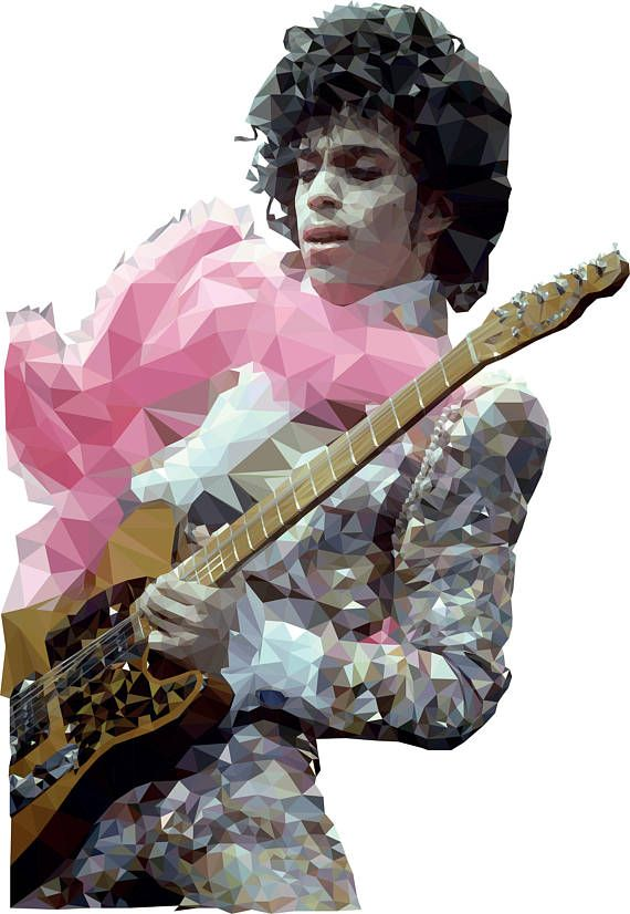 Prince Low Res Poly Illustration